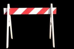 Führen Sie nicht das Zeichen für constructio getrennt auf Schwarzem stockfotos