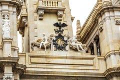 Führen Sie oh die Stadt Hall Building in Valencia, Spanien einzeln auf lizenzfreies stockbild