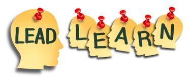 Führen Sie und lernen Sie Ausbildung lizenzfreie abbildung