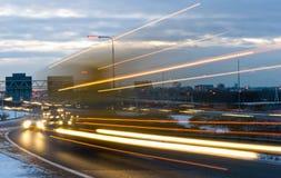 Führen von LKW Stockfoto