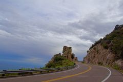Führender Hügel Windy Roads Lizenzfreie Stockfotografie
