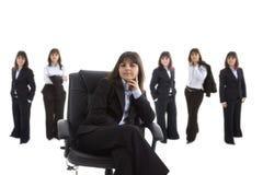 Führendes Team der Geschäftsfrau Lizenzfreie Stockbilder