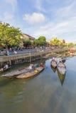 Führer bei Thu Bon River, Hoi An, Vietnam Lizenzfreie Stockfotografie