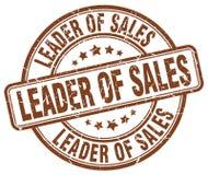 Führer des Verkaufsbraunstempels stock abbildung