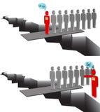 Führer gegen Manager lizenzfreie abbildung
