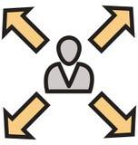 Führer Isolated Vector Icons, der leicht geändert werden oder redigieren kann lizenzfreie abbildung