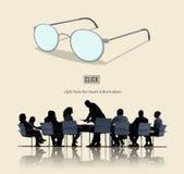 Führer-Lehrer-Glasses Icon Expert-Konzept Lizenzfreies Stockfoto