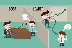 Führer oder Chef, Schablone lizenzfreie abbildung