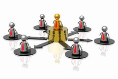 Führer und Geschäftsteam Stockbild