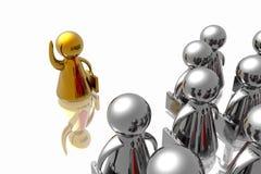 Führer und Geschäftsteam