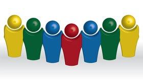 Führer und sein Team lizenzfreie abbildung
