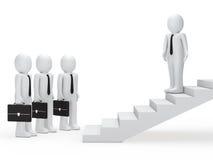 Führererscheinen-Geschäftsmannmethode auf Treppen vektor abbildung