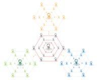 Führergruppennetz Vektor Abbildung