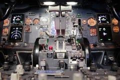 Führerraum Boeing-737 Lizenzfreies Stockfoto
