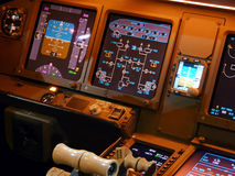 Führerraum-Düsenflugzeug Stockfotos