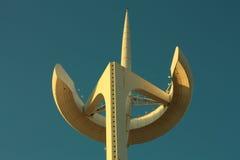 Führt Telekommunikation Calatrava Kontrollturm einzeln auf lizenzfreies stockbild