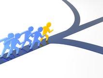 Führung auf Geschäftsart stock abbildung