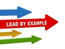 Führung 3d durch Beispielpfeil Lizenzfreie Stockbilder