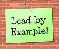 Führung durch den Beispiel-Show-Einfluss geführt und Berechtigung stock abbildung