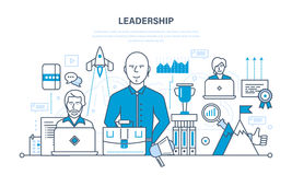 Führung, Fähigkeiten, Karriereerfolg und Bildung, neue Höhen erzielend stock abbildung