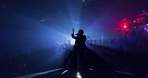 Führung, Impresario, Arbeiten für die Öffentlichkeit Schattenbild Tanzvorlagenklasse stock video