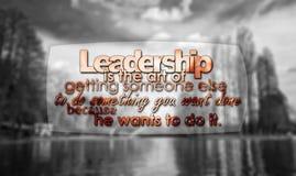 Führung ist die Kunst von tun etwas vektor abbildung