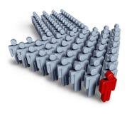 Führung mit Geschäftsteam lizenzfreie abbildung