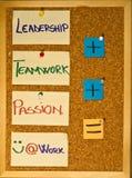 Führung, Teamwork und Neigung Lizenzfreies Stockbild