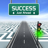 Führung und Geschäft. Erfolg gerade voran Stockbilder