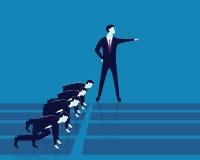 Führung und Geschäfts-Wettbewerbs-Konzept Stockfotografie