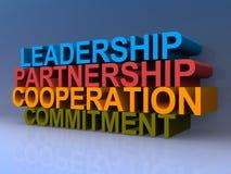 Führung und Management-Konzept lizenzfreie abbildung