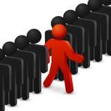 Führung und Originalitätskonzept Laufen Sie zu den Gelegenheiten Auch im corel abgehobenen Betrag lizenzfreie abbildung