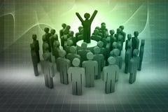 Führung und Team Lizenzfreie Stockfotografie