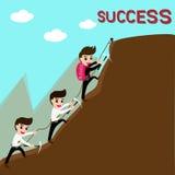 Führung und Team sind Erfolg im Geschäft vektor abbildung