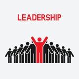 Führung und Teamwork-Konzept lizenzfreie abbildung