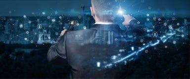 Führungen versteigern in einem Netz lizenzfreies stockbild