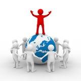 Führungkonzept auf weißem Hintergrund Lizenzfreie Stockbilder