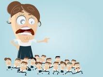 Führungsgeschäft clipart Lizenzfreies Stockfoto