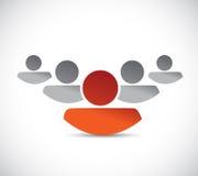 Führungsgeschäftsteam-Illustrationsdesign Stockfoto