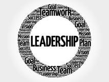 Führungskreis-Wortwolke Lizenzfreie Stockfotografie