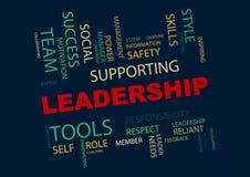 Führungswort-Wolkenillustration lizenzfreie abbildung