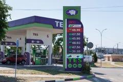 Füllen des Autos mit Kraftstoff lizenzfreies stockfoto