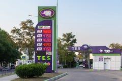 Füllen des Autos mit Kraftstoff lizenzfreie stockfotografie