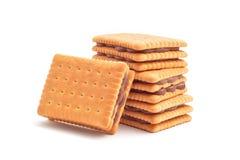 Füllende Kekse der Schokolade Lizenzfreies Stockbild