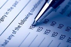 Füllendes Dokumenten-Formular Stockfotografie