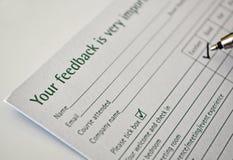 Füllendes Feed-backformular Lizenzfreie Stockbilder