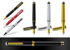Füllfederhalter und Kugelschreiber Stockfotos
