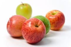 Fünf Äpfel lizenzfreies stockbild
