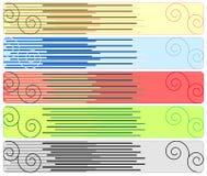 Fünf abstrakte Fahnen Lizenzfreies Stockfoto