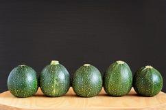 Fünf acht Ball-Kürbisse Lizenzfreies Stockfoto